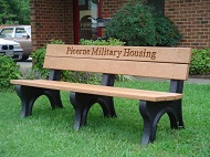 Fibrex Group benches are used by Picerne Military housing