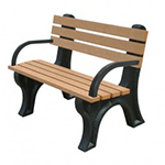 Econo-Design Backed Bench - 4ft with Arms