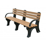 Econo-Design Backed Bench - 6ft with Arms