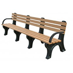 Econo-Design Backed Bench - 8ft with Arms