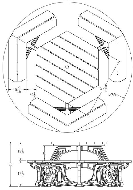 Econo Design Plaza Table