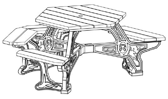 Econo Design Plaza Table Ada