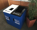 Fibrex Dual Recycling Cabinet - 2x25 gallons - includes liners