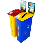 Kidz Slim Bin Double Station