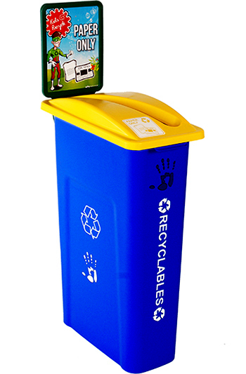 10 gallon station sorter recycling containers for schools