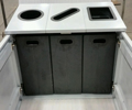 Fibrex Triple Recycling Cabinet - 3x25 gallons - includers liners