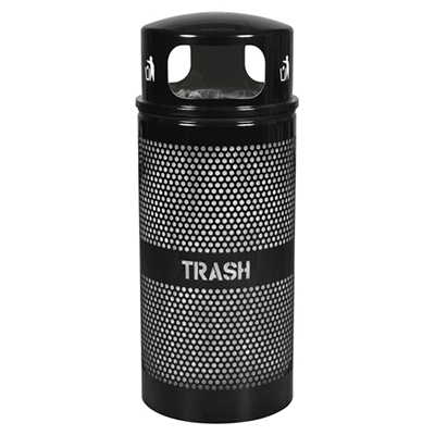 Panorama Series Trash Receptacle with Dome Top