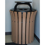 Park Place Flare Top Receptacle with Rain Cap