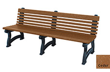 Willow Backed Bench - 6ft without Arms
