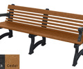 Willow Backed Bench - 6ft with Arms