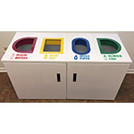 Fibrex Quad Recycling Cabinet - 4x25 gallons - include liners