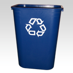 Large Deskside Recycling-Waste Bin