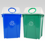 Clear View Recycling System with Lid