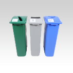 Slim Bin Recycling-Waste Station with Lid