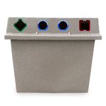 Super Sorter Four-In-One Recycling-Waste Bin