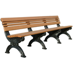 Victorian Backed Bench - 8ft without Arms