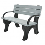 Deluxe Backed Bench - 4ft with Arms