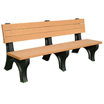 Deluxe Backed Bench - 6ft without Arms