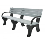 Deluxe Backed Bench - 6ft with Arms