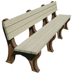 Deluxe Backed Bench - 8ft without Arms