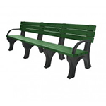 Deluxe Backed Bench - 8ft with Arms