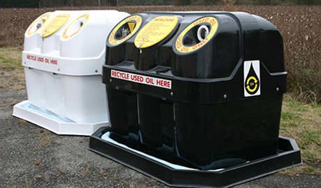 Profile used oil container 400 gallon tank for Used motor oil recycling