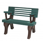 Modern Backed Bench - 4ft with Arms