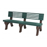 Modern Backed Bench - 6ft without Arms