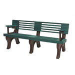 Modern Backed Bench - 6ft with Arms
