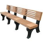 Modern Backed Bench - 8ft without Arms