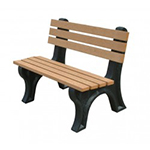 Econo-Design Backed Bench - 4ft without Arms