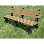 Econo-Design Backed Bench - 6ft without Arms