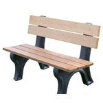Econo-Design Classic Backed Bench 4ft without Arms