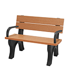 Econo-Design Classic Backed Bench 4ft with Arms