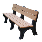 Econo-Design Classic Backed Bench 6ft without Arms