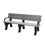 Econo-Design Classic Backed Bench - 6ft with Arms