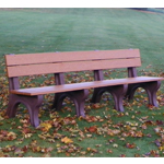 Econo-Design Classic Backed Bench - 8ft without Arms