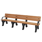 Econo-Design Classic Backed Bench - 8ft with Arms