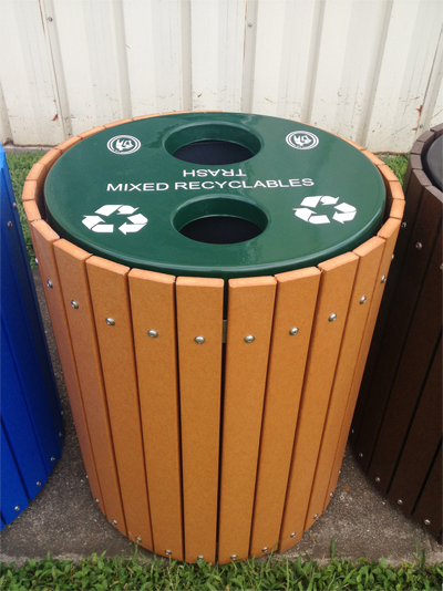 Envirodesign Combination Trash-Recycling Receptacle