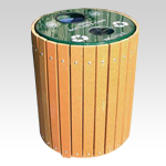 Envirodesign Recycled Plastic Lumber Recycling Receptacles
