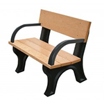 Hyde Park Backed Bench - 4ft with Arms