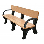 Hyde Park Backed Bench - 6ft with Arms