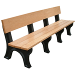 Hyde Park Backed Bench - 8ft without Arms