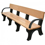 Hyde Park Backed Bench - 8ft with Arms