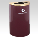 RecyclePro Half Round for MIXED RECYCLABLES