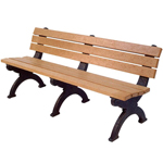 Elements Backed Bench - 6ft without Arms