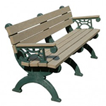 Elements Backed Bench - 6ft with Arms