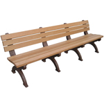 Elements Backed Bench - 8ft without Arms