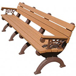 Elements Backed Bench - 8ft with Arms