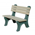 Central Park Backed Bench - 4ft without Arms
